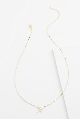 18k sagittarious necklace