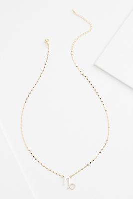 18k capricorn necklace