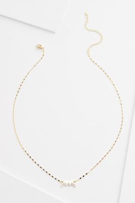 18k aquarius necklace