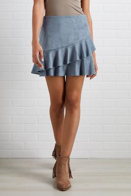 fall flounce skirt