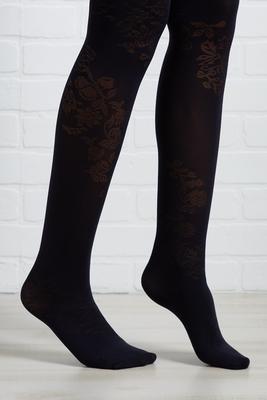 black floral tights
