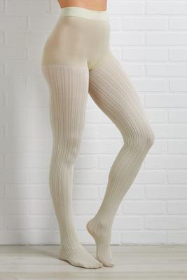 cream sweater tights