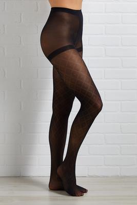 dot diamond tights