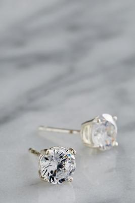 6mm stud CZ earrings