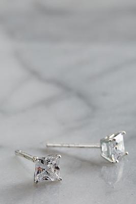4mm stud CZ earrings