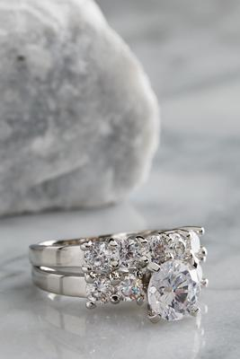 5 stone engagement ring set
