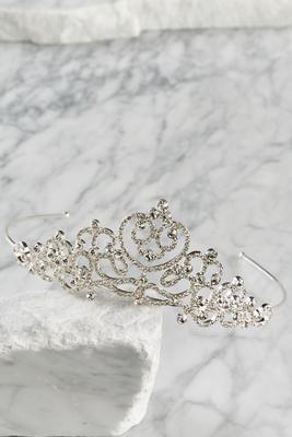 rhinestone scroll tiara