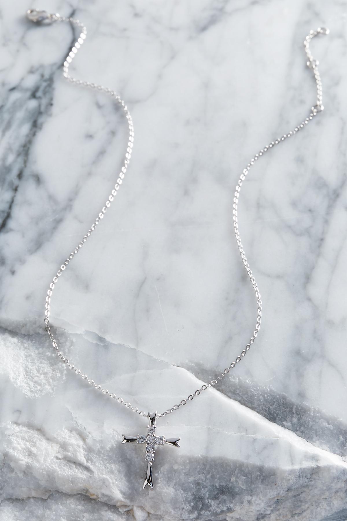 Cz Cross Pendant Necklace