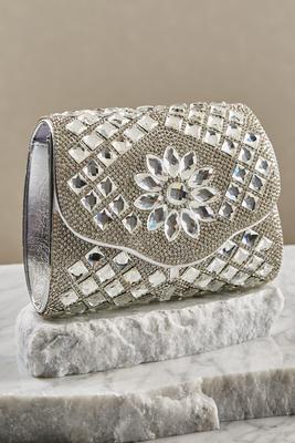Rhinestone glitter clutch
