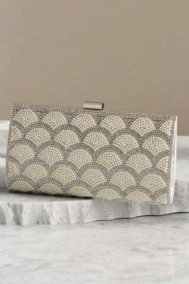 faux pearl fan clutch