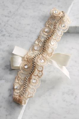 embellished lace headband