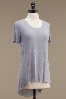 raw edge high-low tee