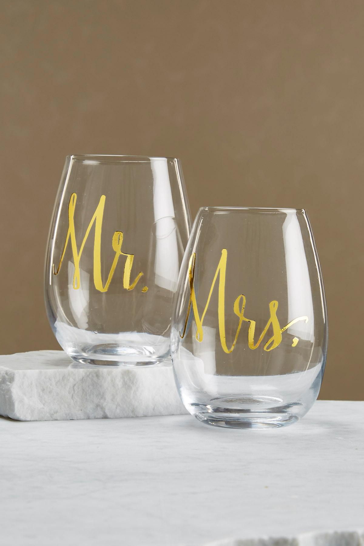 Mr.And Mrs.Glassware Set