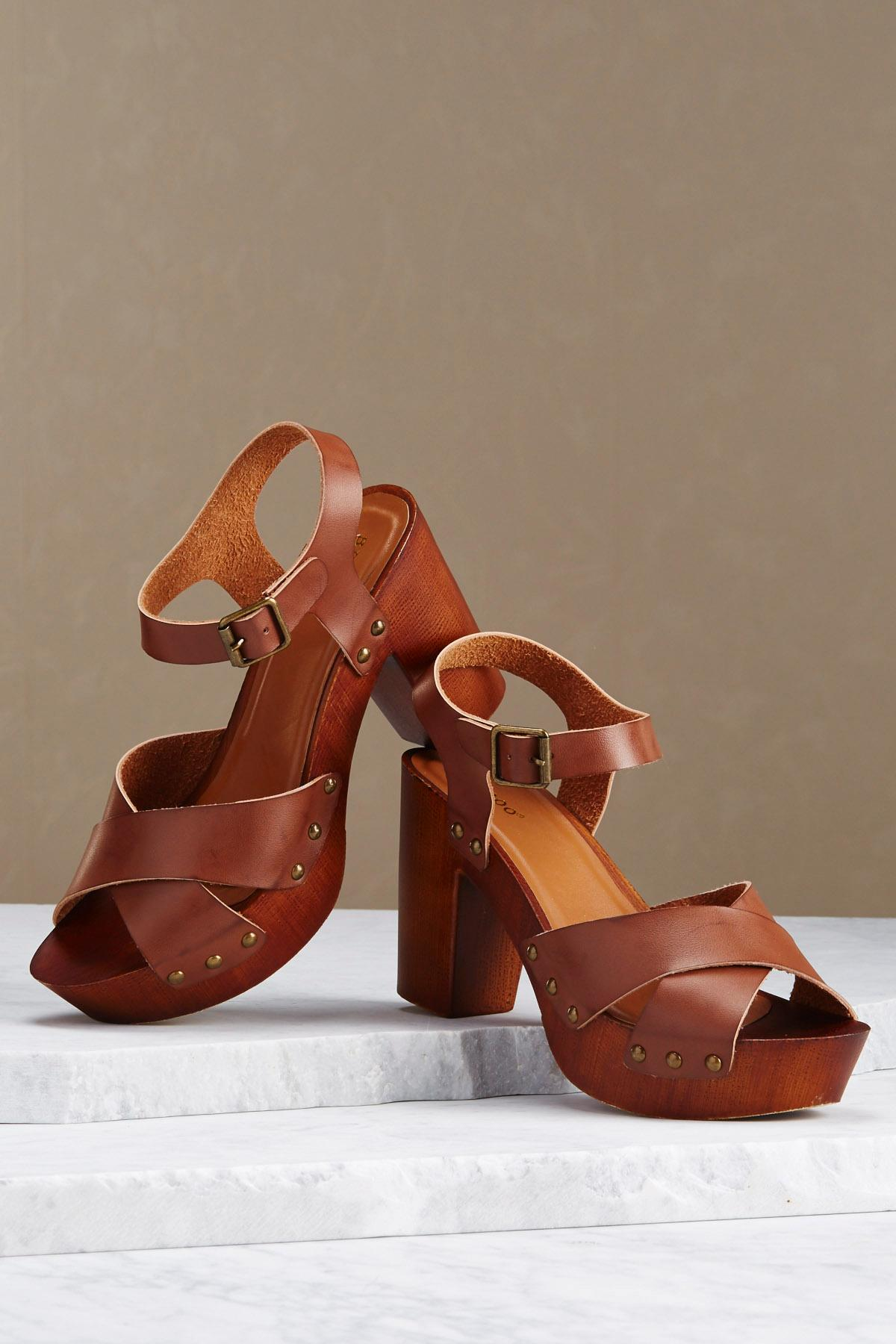 Chunky Wood Heels