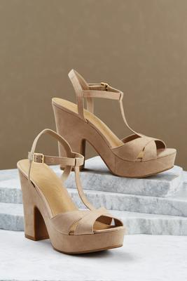platform t-strap heels