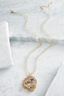 semi-precious pendant necklace