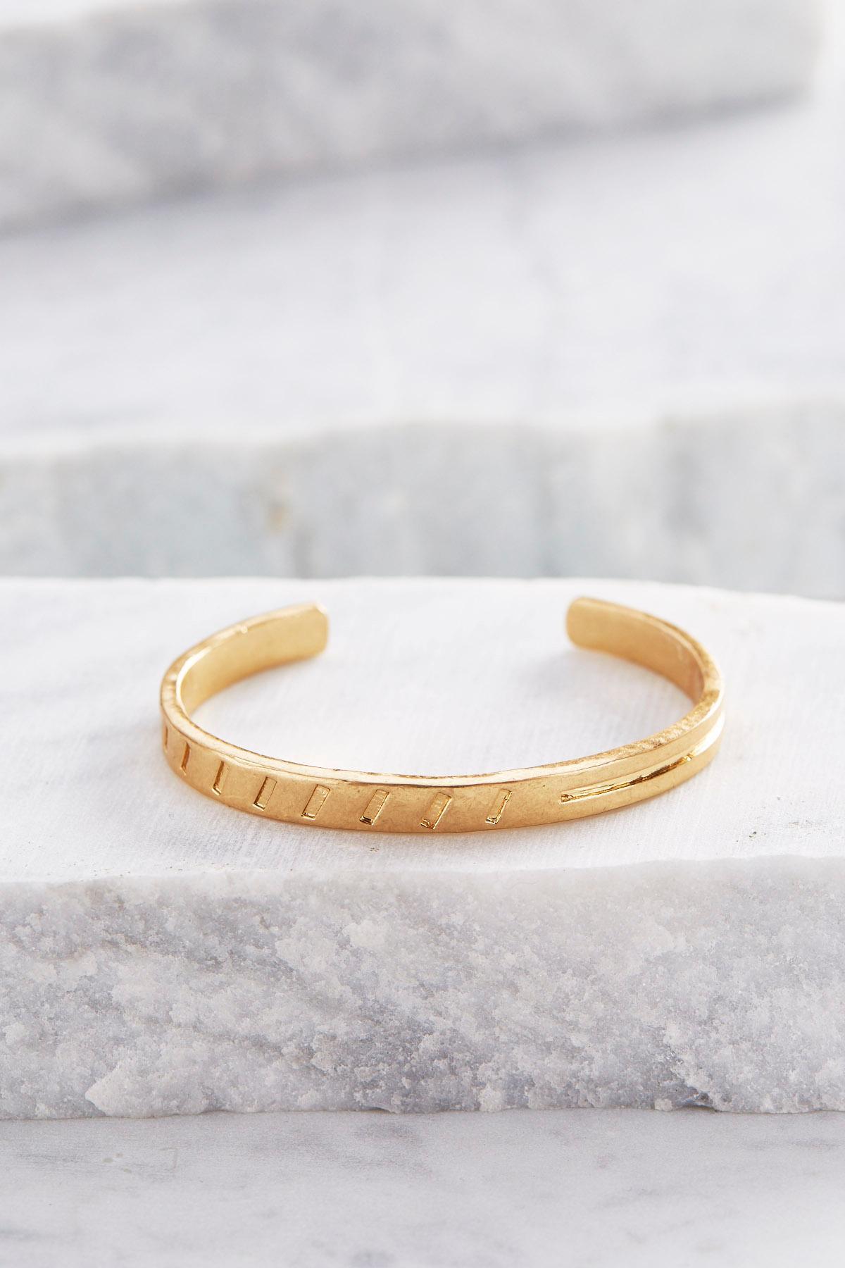 Notched Cuff Bracelet