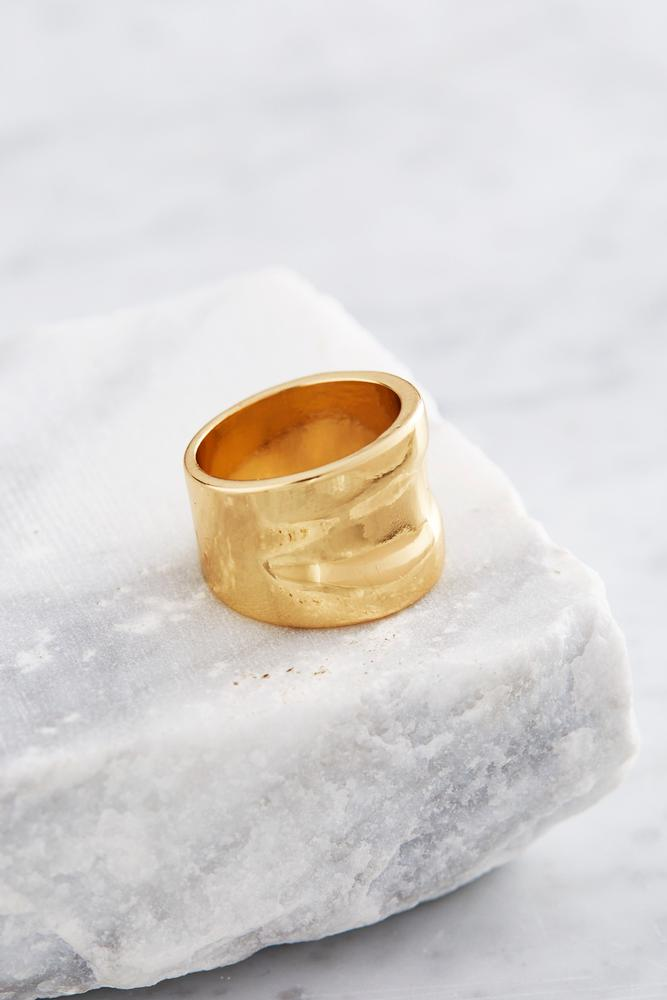 Wide Polished Band Ring