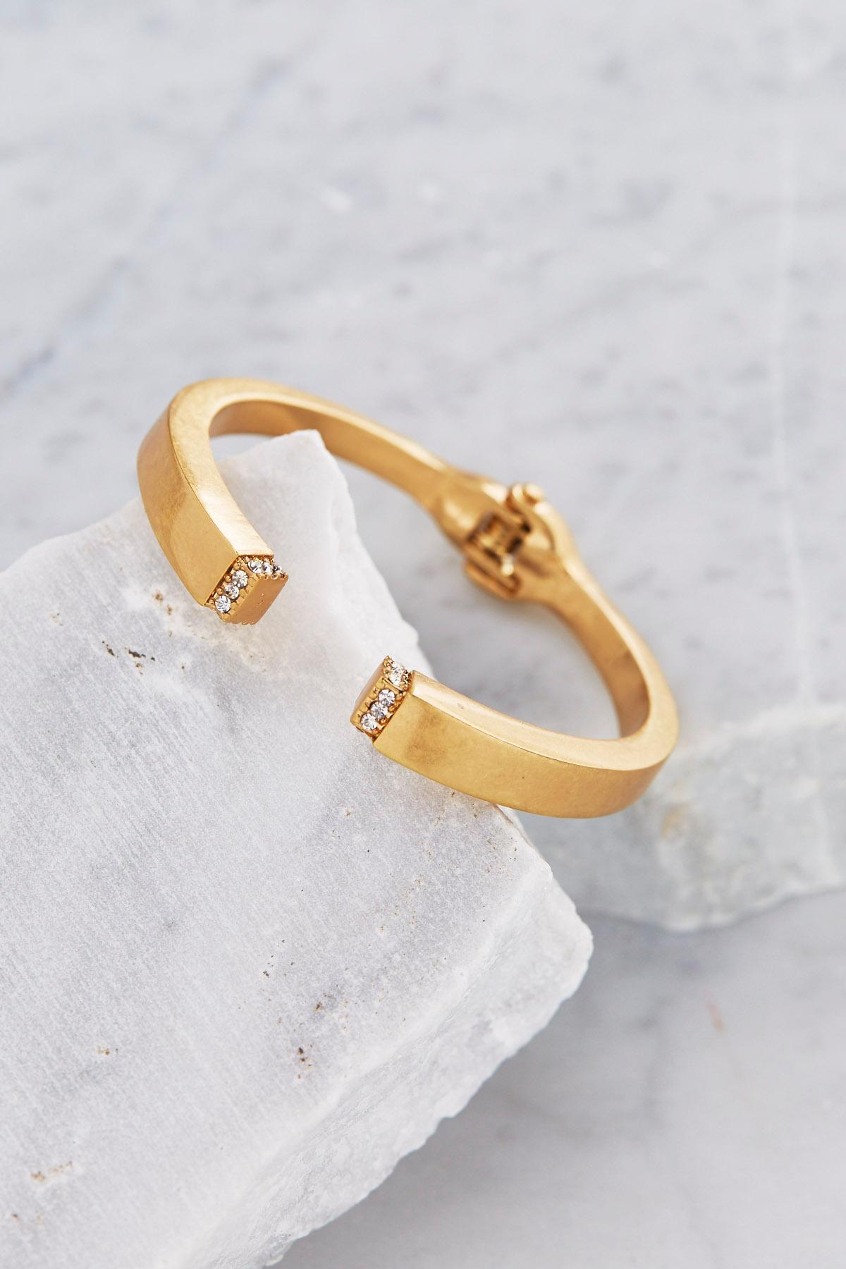Pave Cap Hinge Bracelet