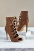 Caged Calf Lace Up Shooties