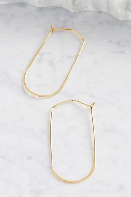 oblong hoop earrings