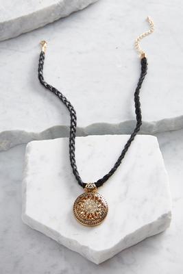 braided medallion choker