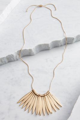 metal fringe statement necklace
