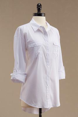 roll tab button down shirt
