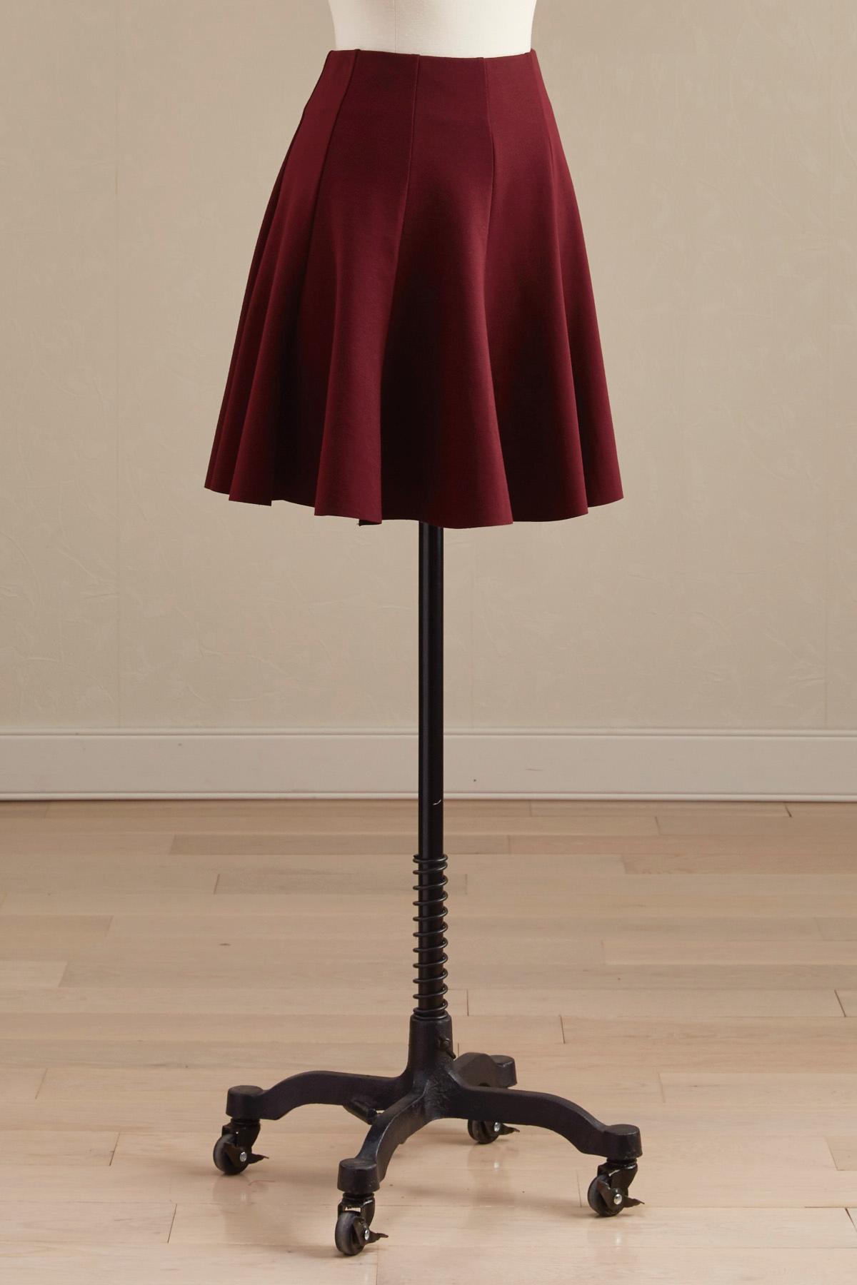Gored Ponte Mini Skirt