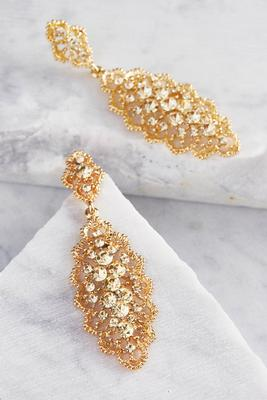 embellished filigree dangle earrings