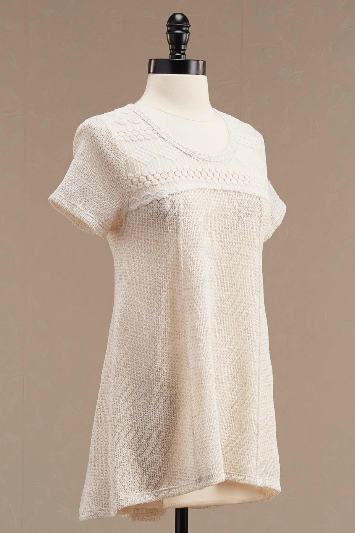 Crochet Neck High- Low Top
