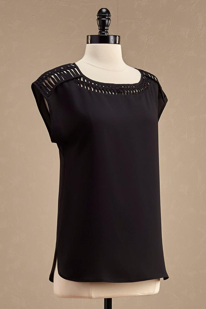 Knotted Lattice Shoulder Top
