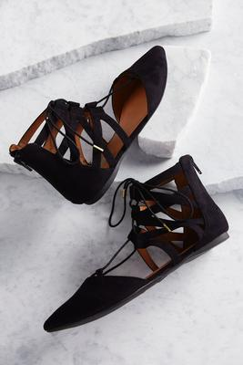 lace up ankle flats