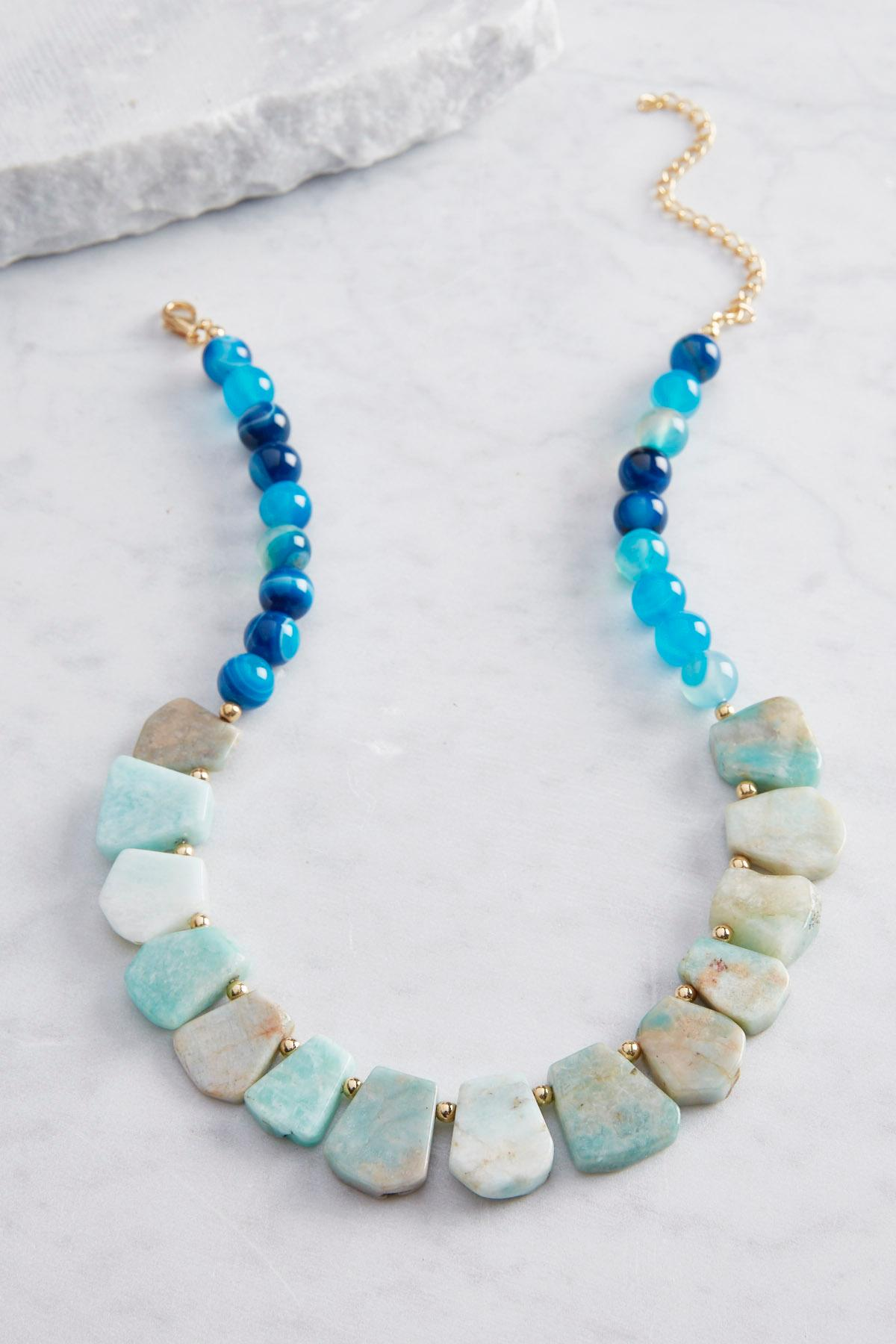 Stone Beaded Statement Necklace