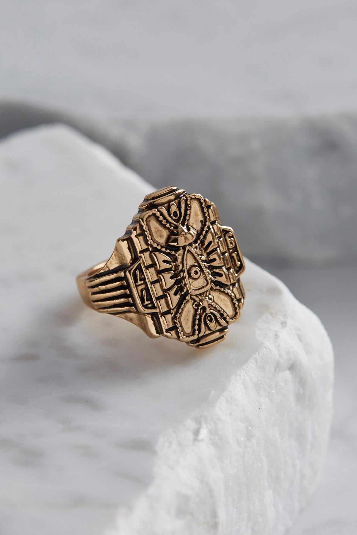 Vintage Burnished Metal Ring