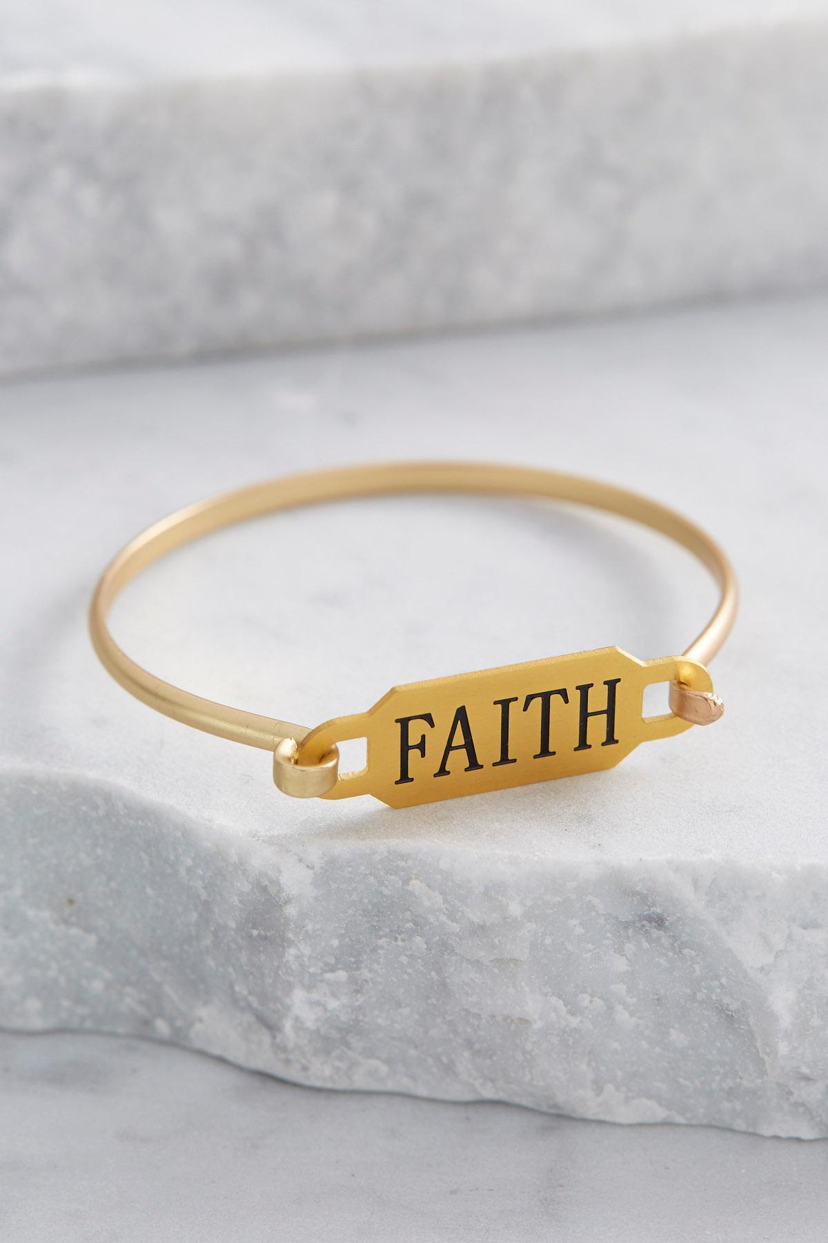 Faith Plate Bangle