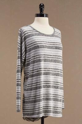 striped envelope back tunic