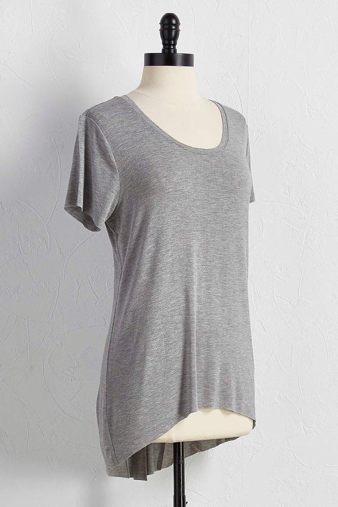 Raw Edge High- Low Tee