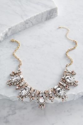 victorian stone bib necklace