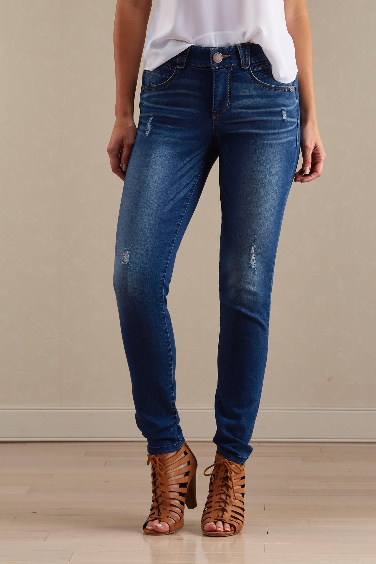 Uplifting Distressed Skinny Jeans
