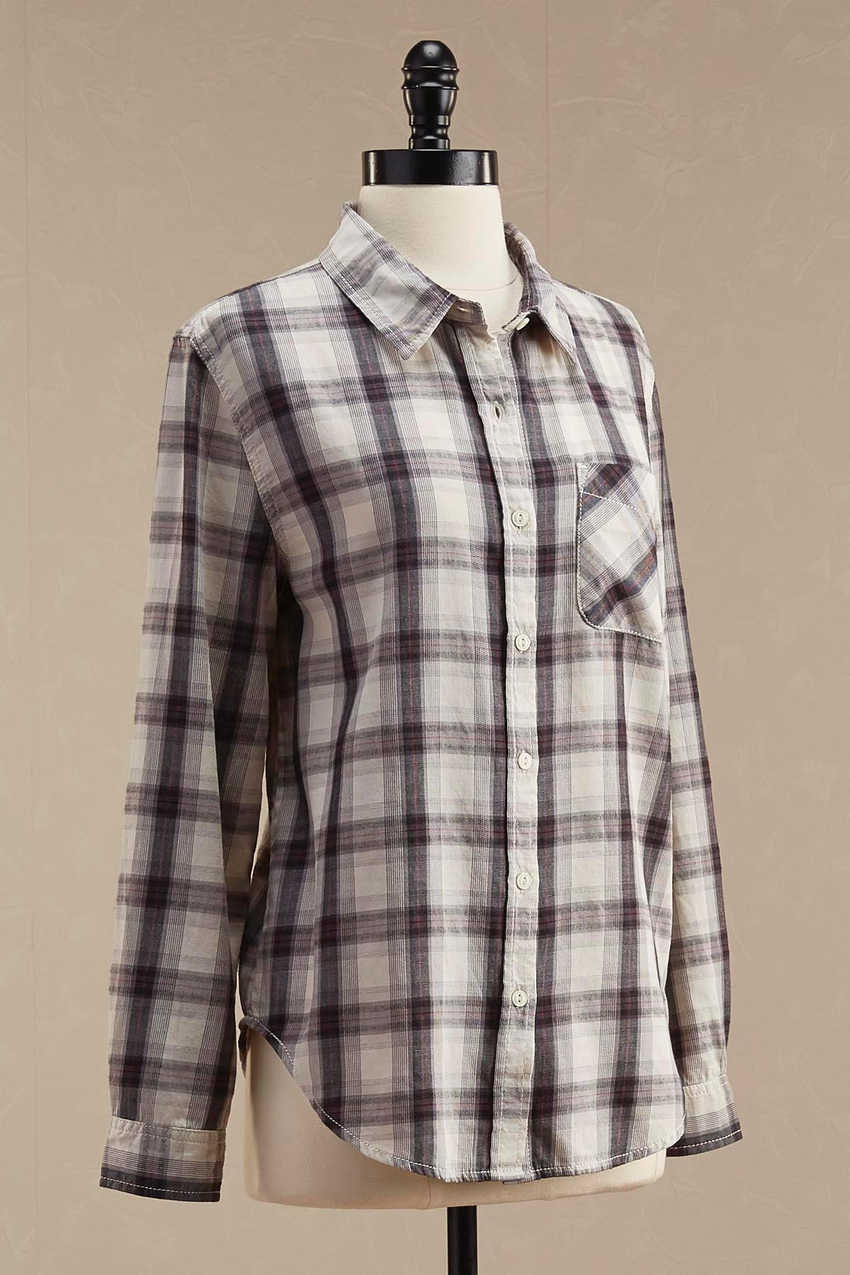 Plaid High- Low Shirt