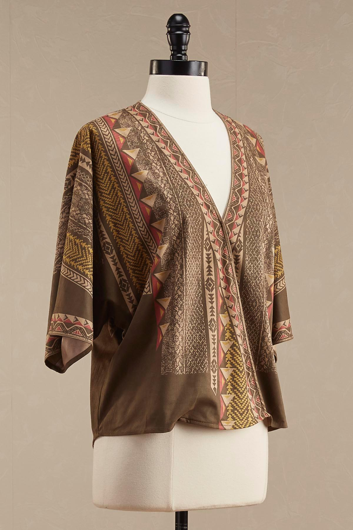Faux Suede Tribal Tunic
