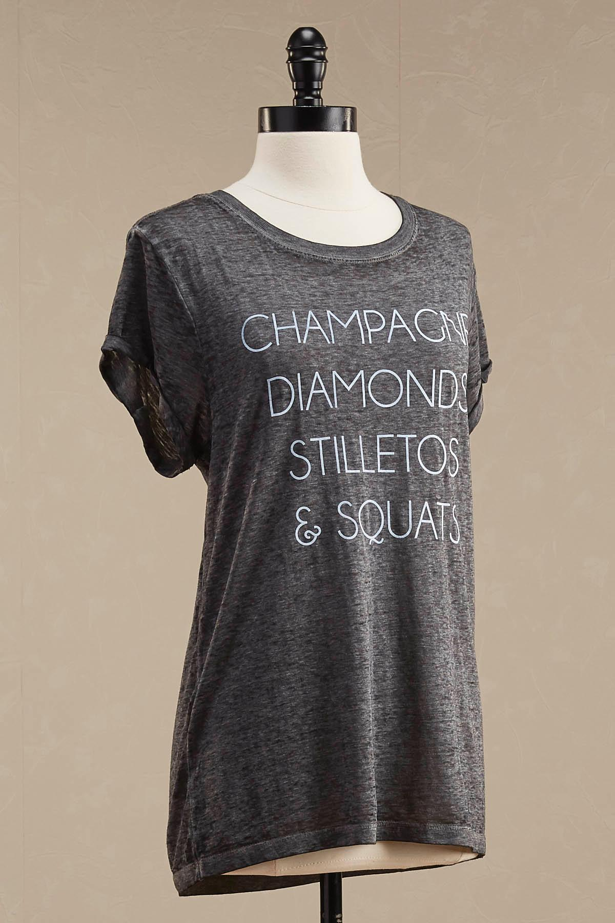 Champagne To Squats Graphic Tee
