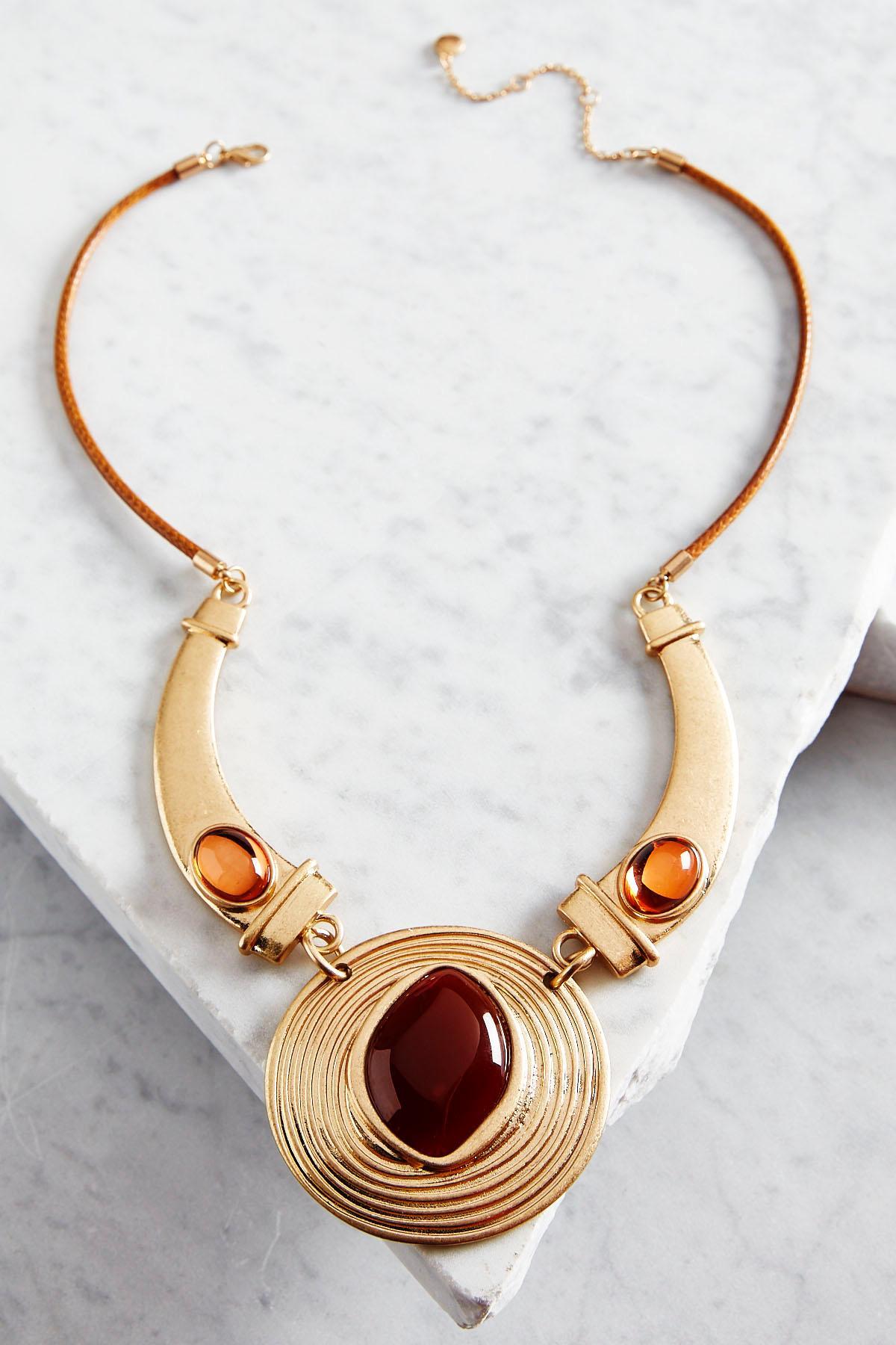 Deco Pendant Cord Necklace