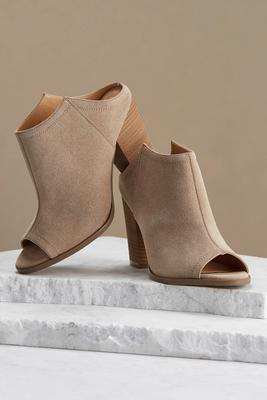 angular block heel mules