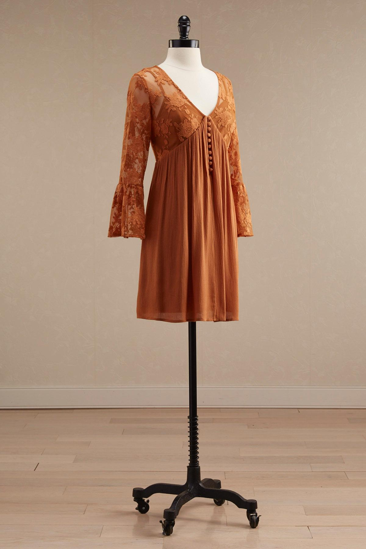 Mixed Media Babydoll Dress