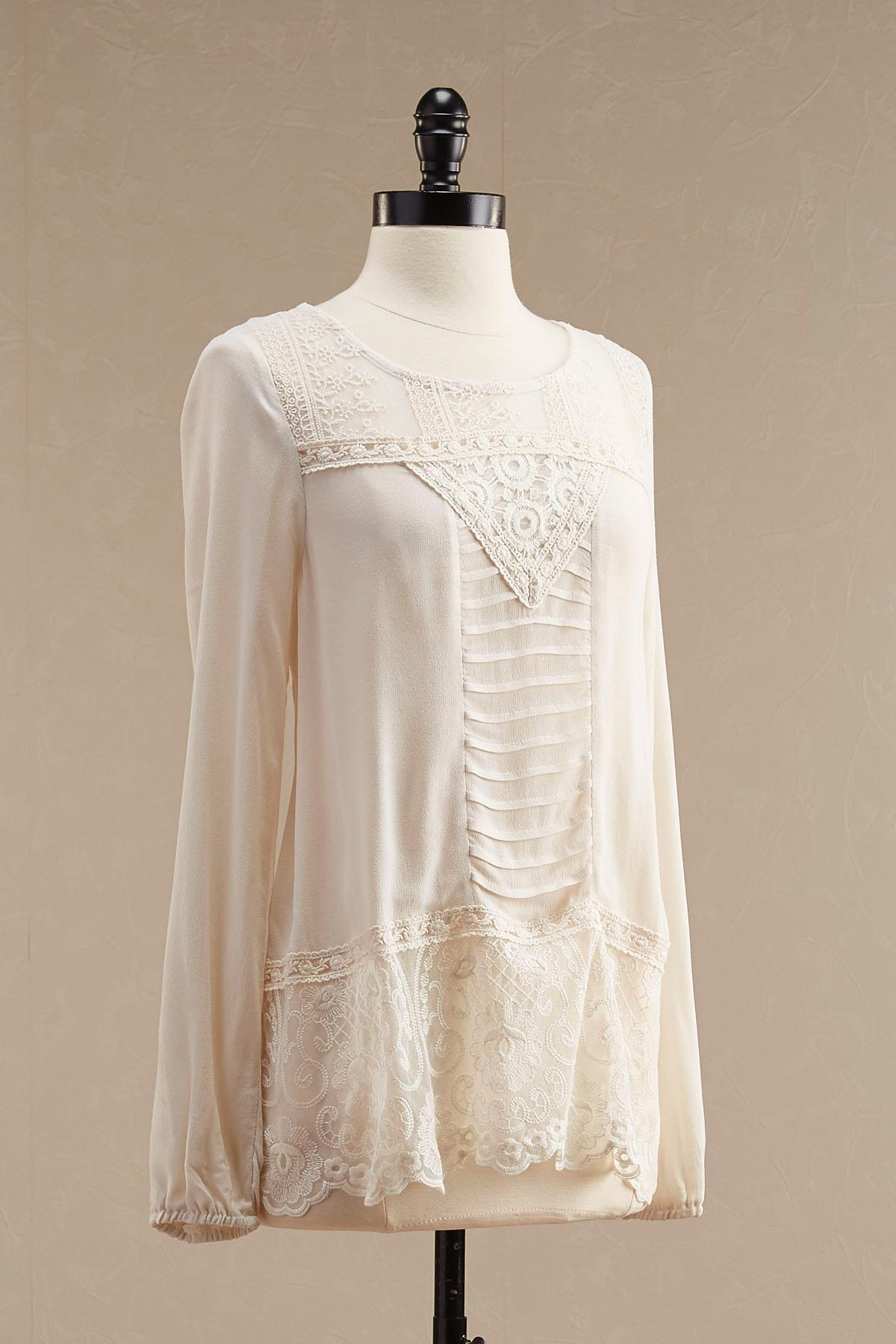 Victorian Lace Inset Top
