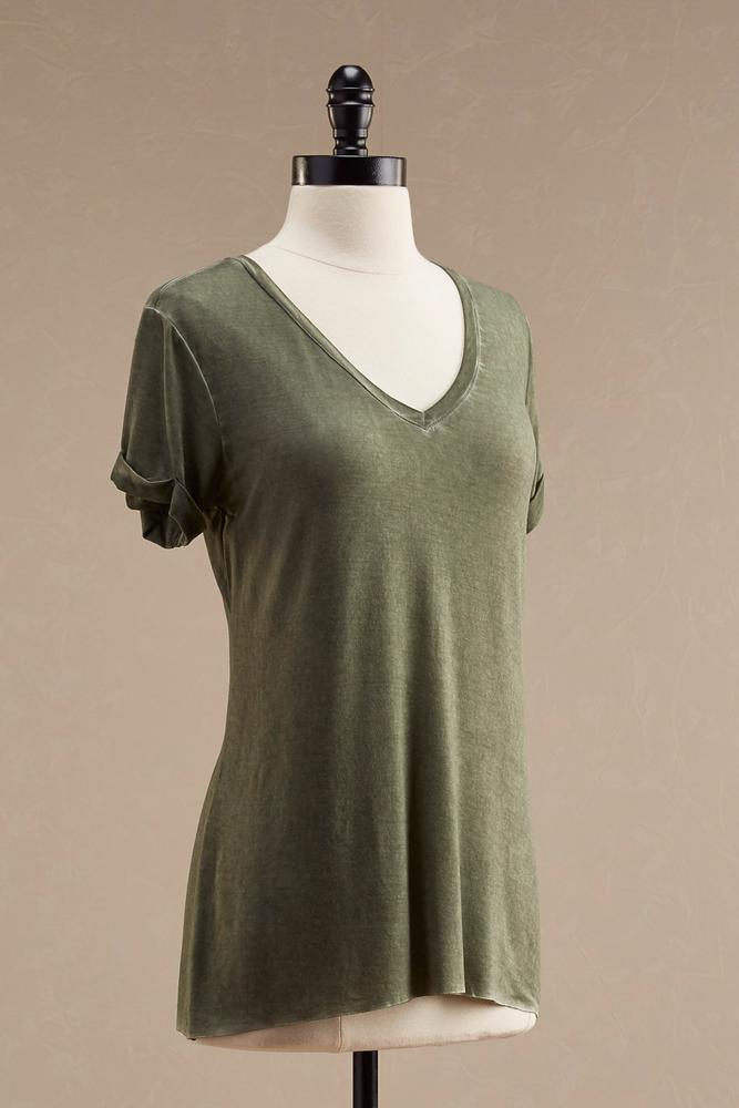 Raw Edge Mineral Wash Tee
