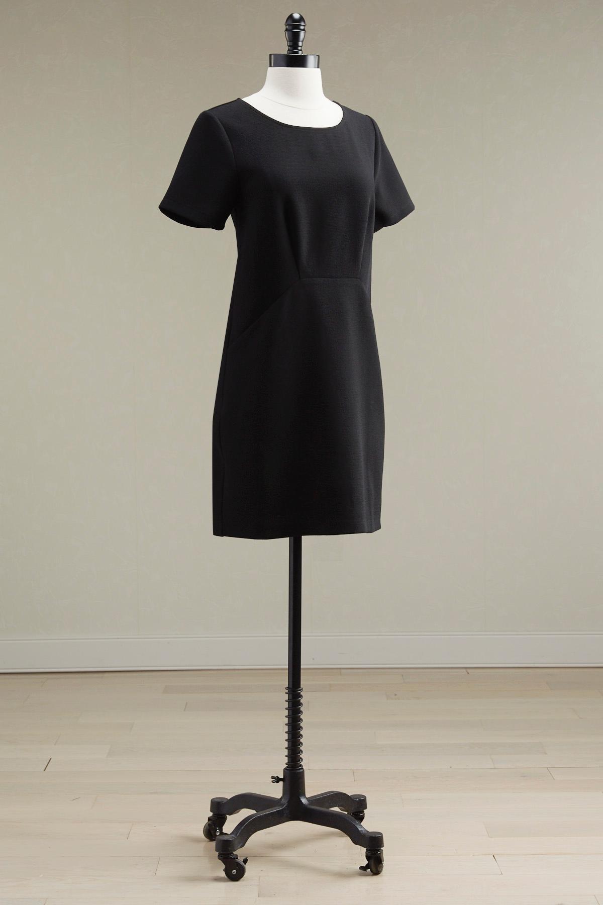 Pouch Pocket Seamed Shift Dress