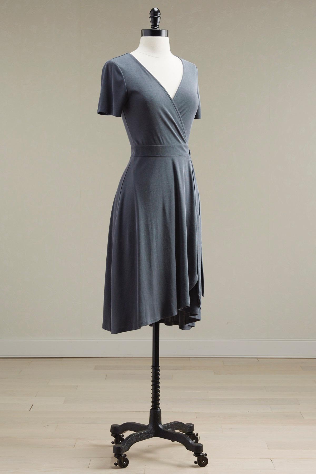 Ribbed Wrap Dress